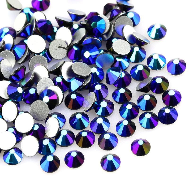 Jet AB, не требующей горячей фиксации Стразы SS3-SS20 (1,3-5,0 мм) с украшением в виде кристаллов стеклянные стразы s для одежды Свадебные украшения др...