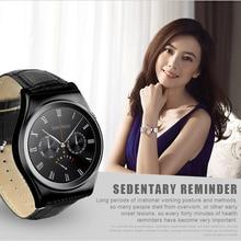 Pulsmesser Touchscreen Smart Uhr Armbanduhr Leder Bluetooth Uhr mit Multi Sprache Smartwatch Armbanduhr