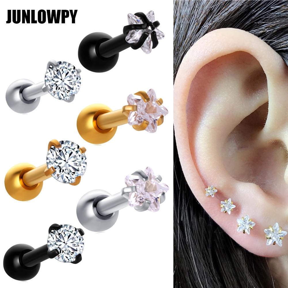 Zircon Ear Stud Gem Fashion Jewelry Lip Ring Earring Piercing Ear Cartilage