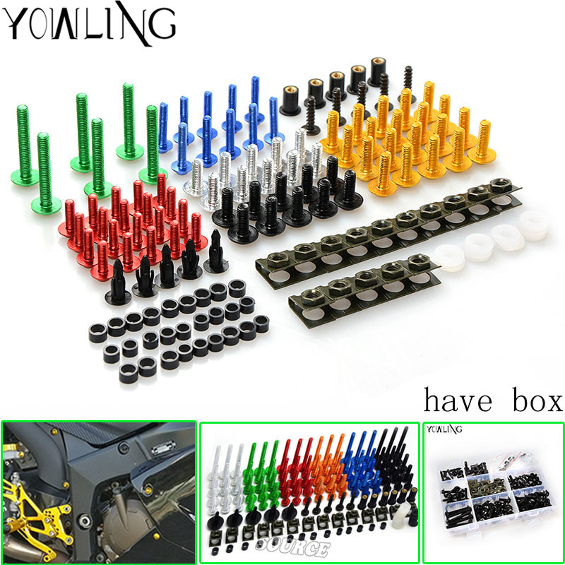 A SET CNC Motorcycle Accessories Fairing Bolts Kit Body Fastener Clips Screws for honda cbr250 cbr400