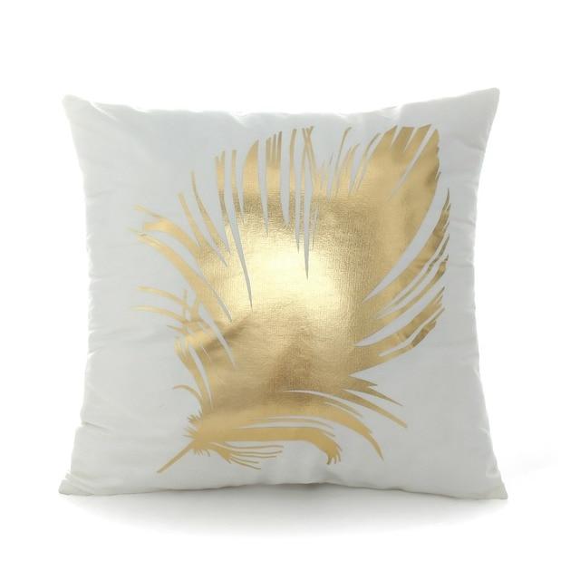 Golden Sea Print Cushion Cover 2
