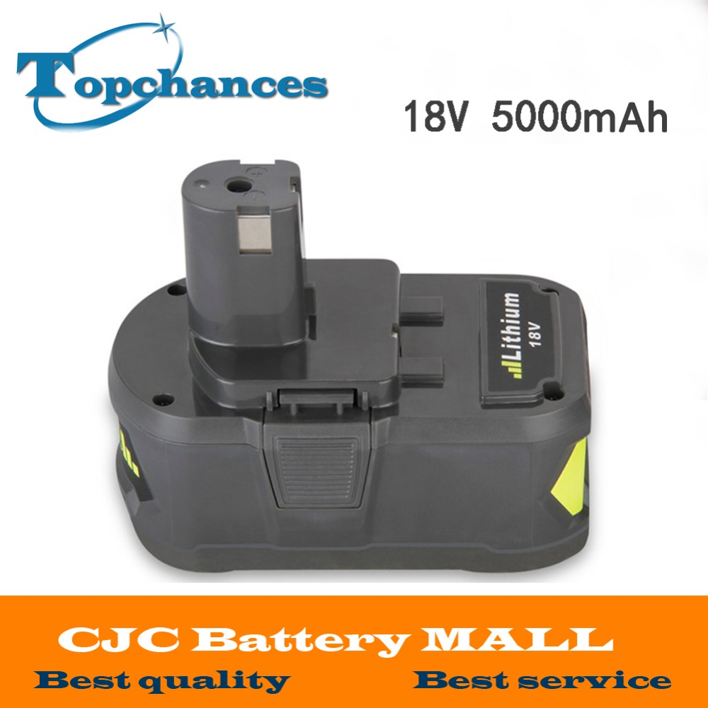 High Capacity New 18V 5000mAh Li-Ion For Ryobi Hot P108 RB18L40 Rechargeable Battery Pack Power Tool Battery Ryobi ONE+ brand new high popwer 50pcs lot 100% genuine sanyo 18650 3500mah li ion rechargeable battery 3 6v ncr18650ga highest capacity