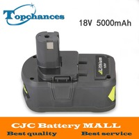 High Capacity New 18V 5000mAh Li Ion For Ryobi Hot P108 RB18L40 Rechargeable Battery Pack Power