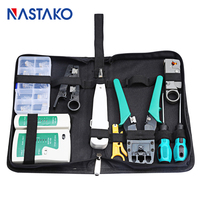 9 in 1 RJ45 Network tool kit RJ45 Crimping Tool with Cutter Set LAN Cable Tester Network crimper Wire Screwdriver Pliers Bag