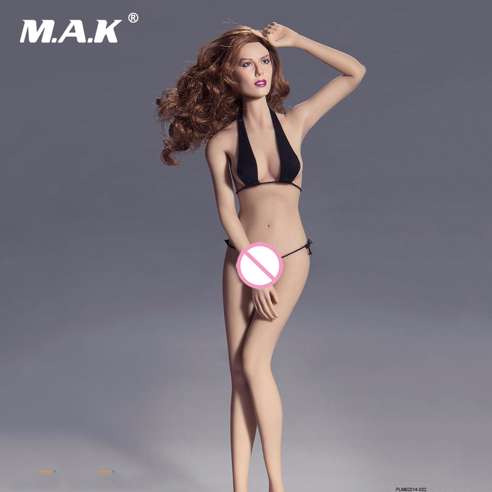 1/6 Full Set Super-Flexible Female Seamless Body With Steel Skeleton Mid Bust & Head Tan Color Female Action Figure Doll free shipping phicen 11inch1 6 super flexible female seamless body with stainless steel skeleton with asian head model body doll