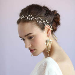 Свадебные туфли ручной работы со стразами и жемчугом крест Hairwear Styling Hairwear лента для волос фунты
