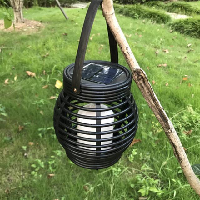 LED Solar Rattan Lantern Mawgie