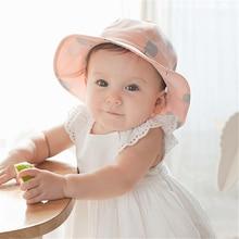 Newborn Baby Toddler Infant Hats Sun Cap Polka Dot Summer Ou