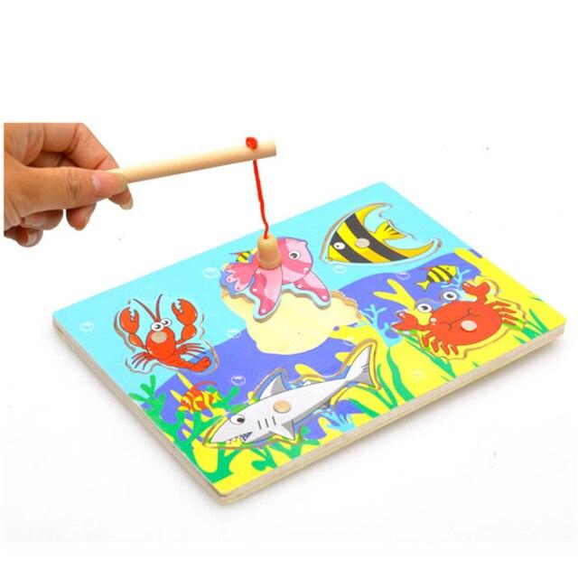 3d Bebe De Madera Montessori Magetic Pesca Juegos Rompecabezas