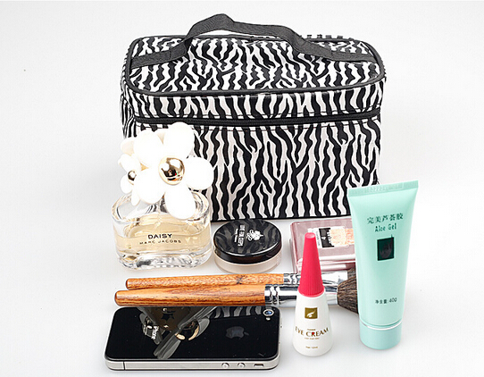New Fashion Portable Waterproof Women Makeup Bag Make Up Storage Organizer Box Beauty Case Travel Pouch Zebra hiinst black portable and durable waterproof portable carrying storage aluminum alloy case box for spark drop aug15