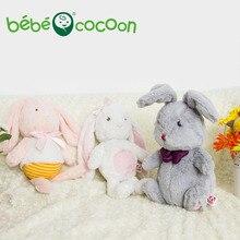 Bebecocoon 2017 Kawaii животных мягкие игрушки пасхальное сладкий сон плюшевый кролик серый/розовый кролик мягкие и плюшевые для девочек подарки(China (Mainland))
