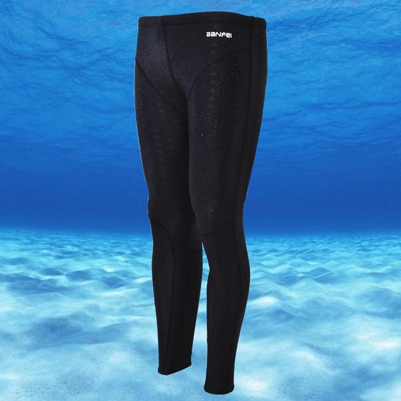 Professional Swimming Trunks Long Pants Full Men Quick Dry Swim Train Suit Beach Surf Diving Rash Guards Jammers
