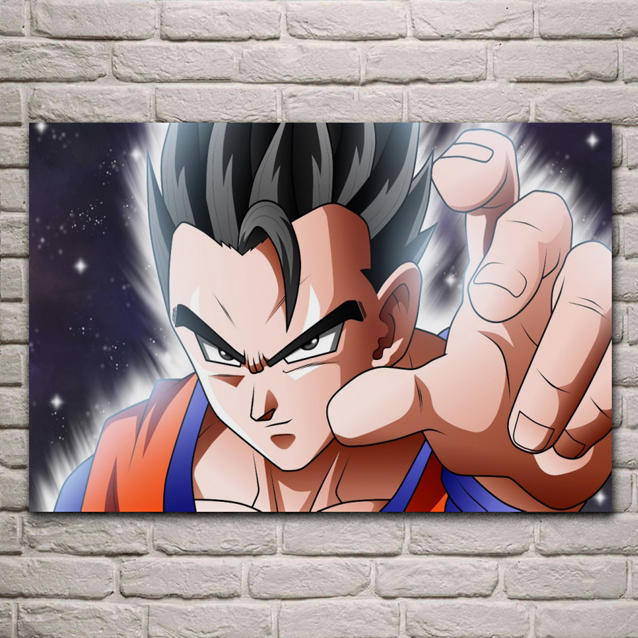 Us 767 36 Offanime Gohan Dragon Ball Super Saiyan Hero Ke150 Living Room Home Wall Art Decor Wood Frame Fabric Posters Prints In Painting