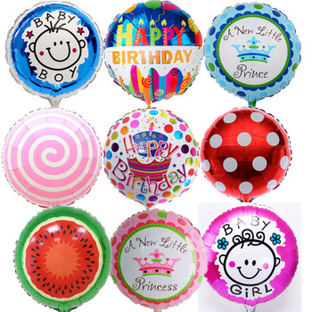 5 pcs/lot 18 inch Round Lollipops Balloons Cartoon Foil Balloons For Baby Shower Decoration Boy&Girl Birthday Party Supplies drone helipad