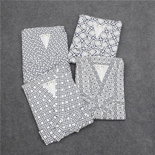 Kimono Pajamas For Men summer Cotton Double cotton gauze Sleep Sleepwear Robes