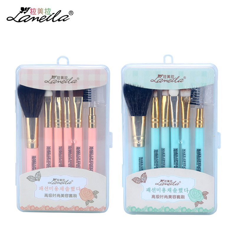 LAMEILA Makeup Brush Set 6pcs for Eyeshadow Eyebrow Lip Blush Eyelash Face Professional Makeup Brushes cute Cosmetic beauty tool professional 10pcs eyeliner eyeshadow eyebrow lip makeup brushes set cosmetic make up brush blush for face mask beauty kit