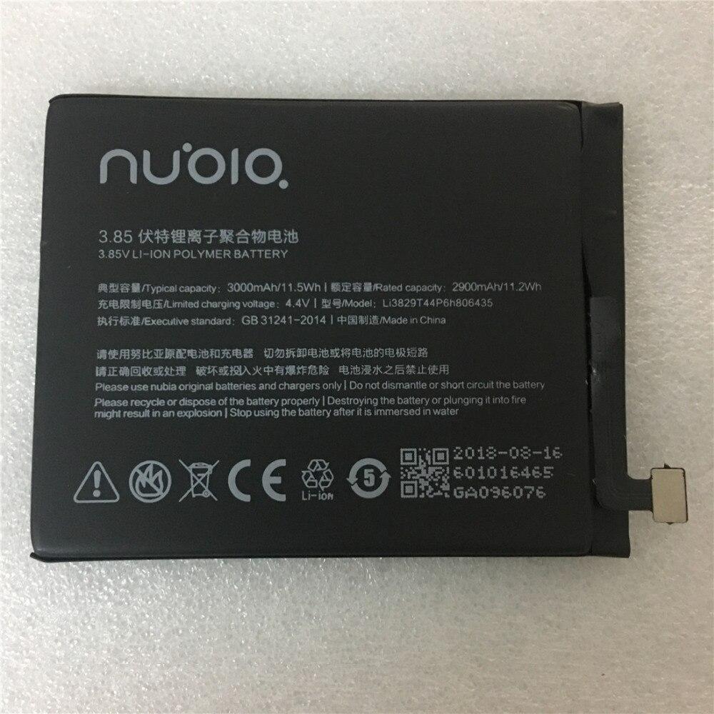 2018 Novo para nubia z11 NX531J Z11 Li3829T44P6h806435 3000 mah Recarregável bateria de polímero de Li-ion bateria de lítio do telefone móvel Embutido