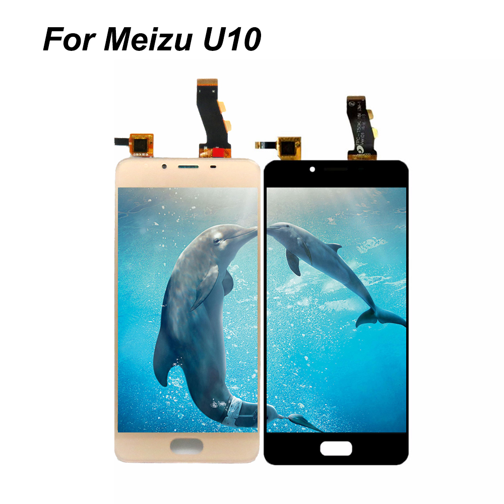 5Meilan U10 LCD Display + Digitizer Touch Screen Replacement For Meizu U10 Cell Phone Parts with frame + Tools
