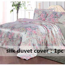 Duvet-Cover Full-Queen-King Twin Multicolor 1pc Silk Printed Size-Ls170902 100%Mulberry