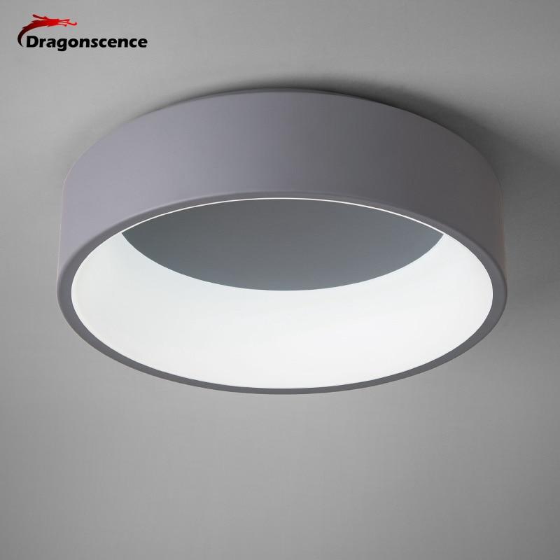 Dragonscence Rodada círculo de Alumínio Moderno Conduziu a lâmpada de luz de teto para sala de estar quarto mesa de jantar sala de reuniões do escritório