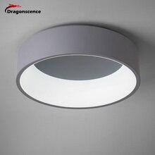 Dragonscence Rotondi del cerchio In Alluminio Moderna Ha Condotto La lampada della luce di soffitto per soggiorno camera da letto tavolo da pranzo ufficio sala riunioni