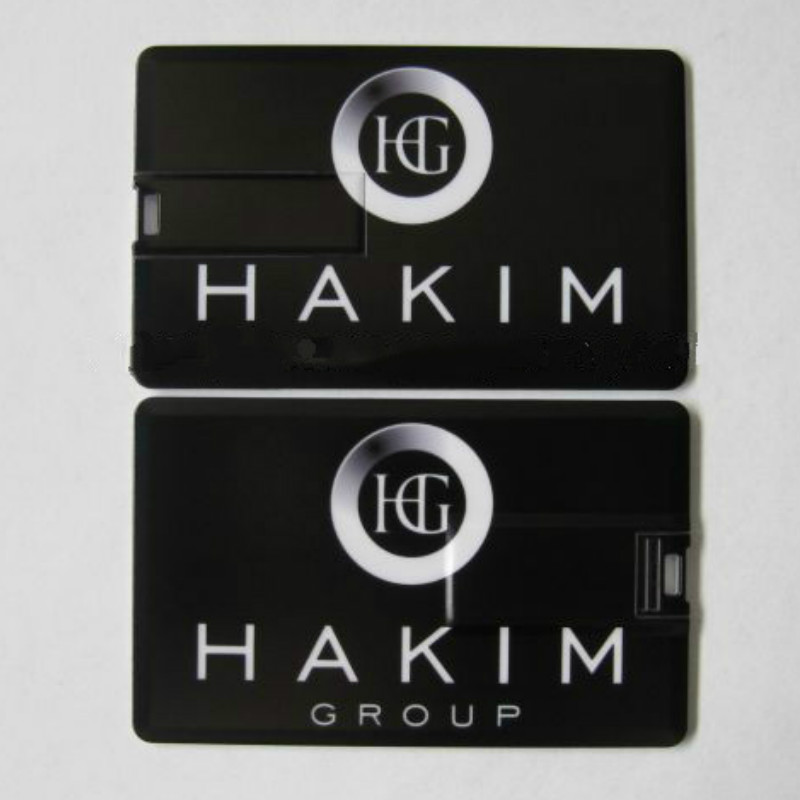 Wholesale Custom Logo High Capacity Plastic Business Card Usb 2.0 8GB 16GB 32GB 64G Usb Flash Drive Print Colorful Image As Gift
