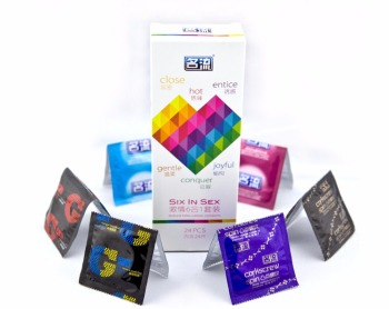 Six In Sex 24PCS amazing condoms value high quality condoms for horny men women adult sex toy