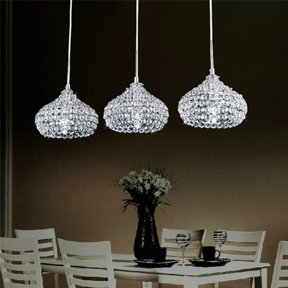 MAMEI Free Shipping Kitchen Island 3 Lights Crystal Modern