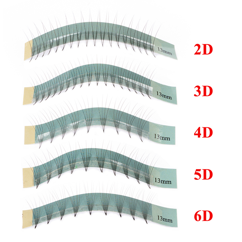 GLAMLASH 12 Lines 2d 3d 4d 5d 6d Heat Bonded fans Faux Mink Premade Russian Volume Eyelash Extension Supplies Salon Use in False Eyelashes from Beauty Health