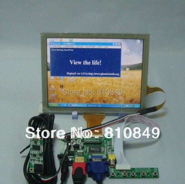 HDMI/VGA/2AV+Reversing Driver board +8inch AT080TN52 800*600 with touch Panel hdmi vga 2av revering driver board 8 inch 800 600 50pin at080tn52 lcd for raspberry p industrial high quality
