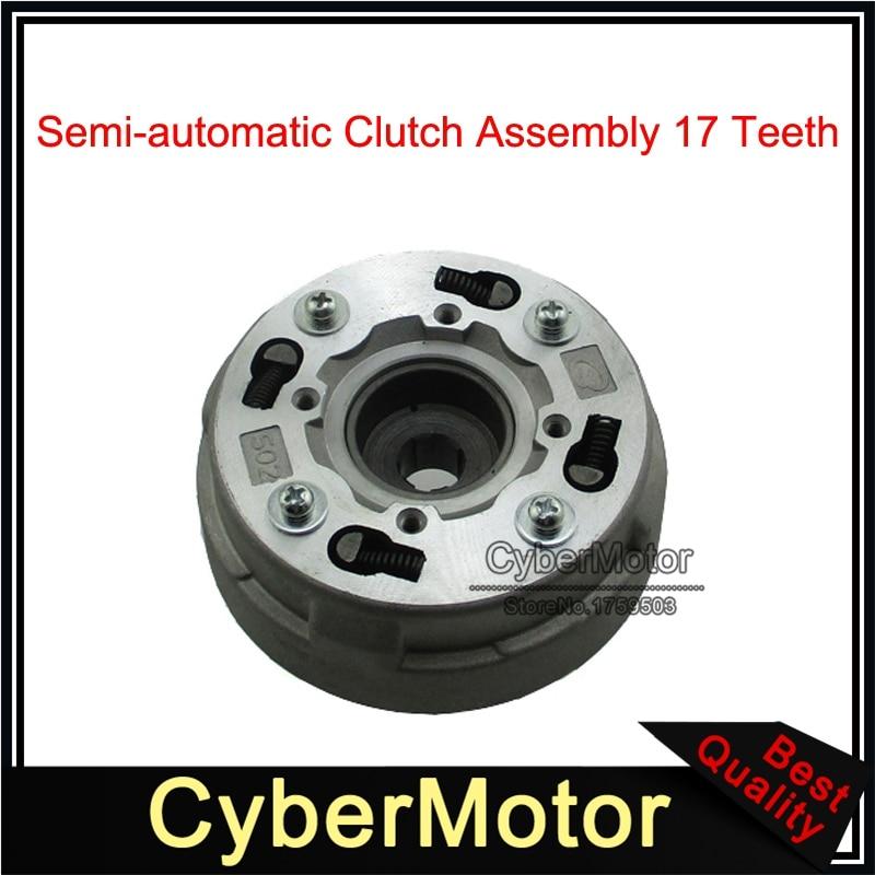 17 Tooth Automatic Clutch w Cap for 50cc 70 90 110cc 125cc ATV Quad Dirt Bike