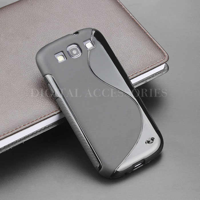 8 Color S Line Gel TPU Slim Soft Anti Skiding Case Back Cover For Samsung Galaxy S3 i9300 Mobile Phone Rubber silicone Bag