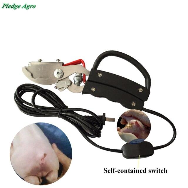 ピグレット尾カット電熱クランプドッキング尾プライヤー物用無血piggeryファームカッター農業機器ツール獣医