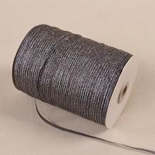20 метров 1/8 ''(3 мм) черная лента с металлическими блестками цветная подарочная упаковка ленты Свадебная вечеринка Рождество украшение лента