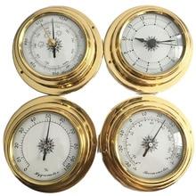 גובה איכות 4 Inches 4 יח\סט 9193 ברומטר מדדי לחות מדחום שעונים שעון תחנת מזג אוויר