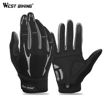 WEST BIKING Cycling Gloves Touch Screen GEL Bicycle Outdoor Sports Anti-slip Windproof MTB Road Bike Full Finger