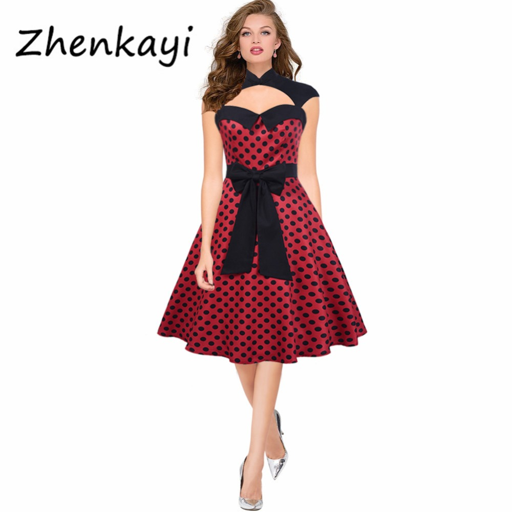 2017 Tunic Vestidos S-2XL Plus Size Women Dress Summer Floral Print Retro Casual Party Robe Pinup Rockabilly 50s Vintage Dresses
