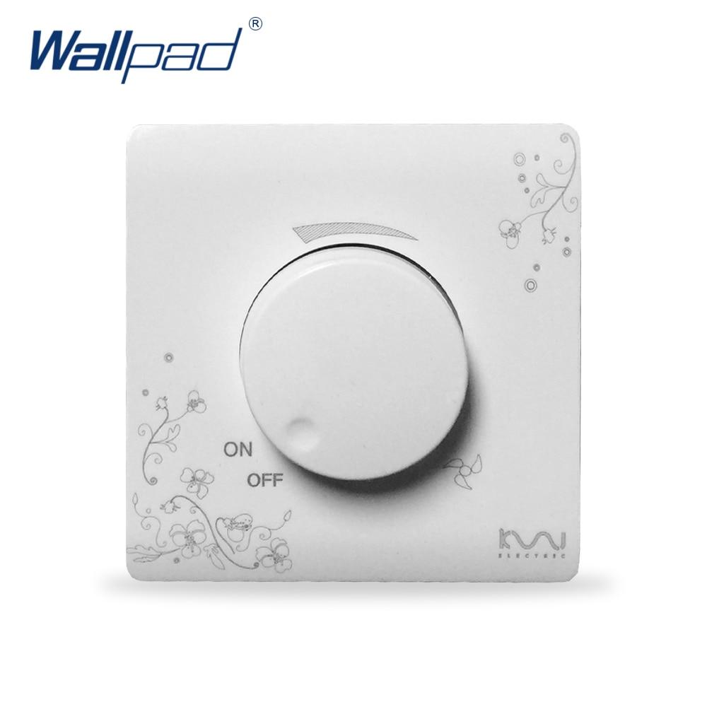 2019 heißer Verkauf Fan Schalter Geschwindigkeit Controller Wallpad Luxus Wand Schalter Panel 86*86mm 15-200 W