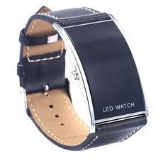 Popular Arch Bridge Style Men's Women's LED Watches Digital Date Faux Leather St