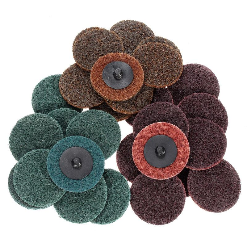 30Pcs/lot 2 Inch Sanding Roloc Disc Roll Lock Surface Conditioning Fine Medium Coarse Pad Hot Sale