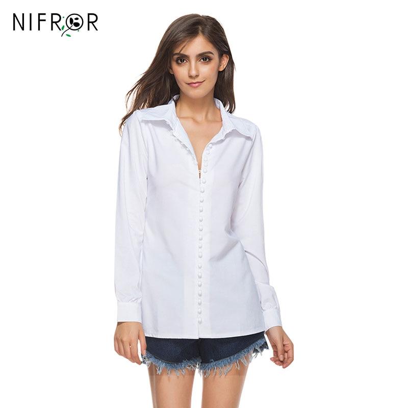 e1ec8f5e933 Plus velikost košile Dámské trička a blůzy Tlačítko V Neck Košile ...