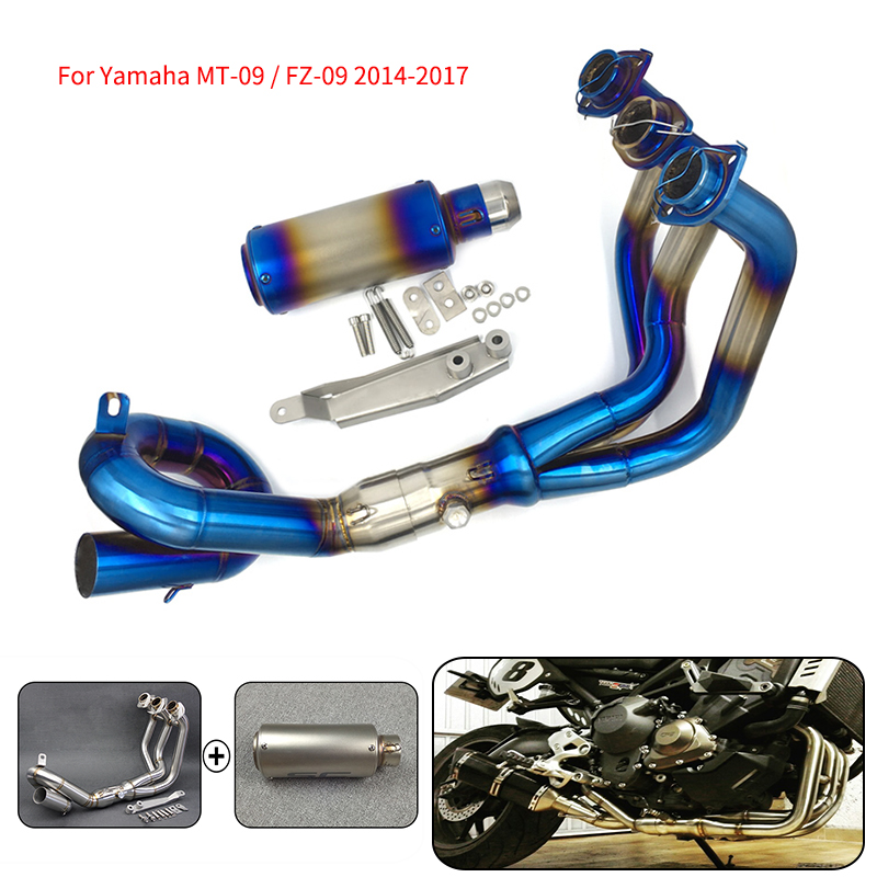 MTCLUB Motorcycle Modified Muffler Exhaust Contact Middle Pipe Slip-On Full System For Yamaha MT-09 FZ-09 MT09 MT 09 FZ 09 14-16MTCLUB Motorcycle Modified Muffler Exhaust Contact Middle Pipe Slip-On Full System For Yamaha MT-09 FZ-09 MT09 MT 09 FZ 09 14-16