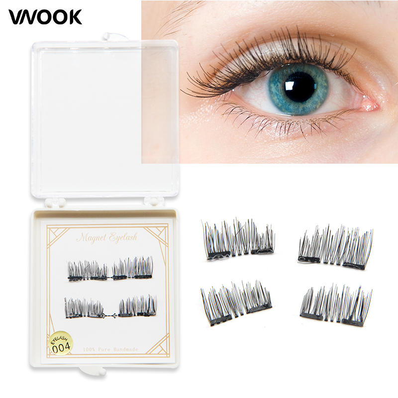 Hot 3D Double Magnetic Eyelashes Magnet False Eyelashes Full Strip Magnetic Cilia Eyelash Reusable Eye Lashes eyebrow extensions