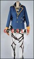 Free Shipping Cosplay Costume Attack on Titan Shingeki no Kyojin Eren Jager New in Stock Retail / Wholesale