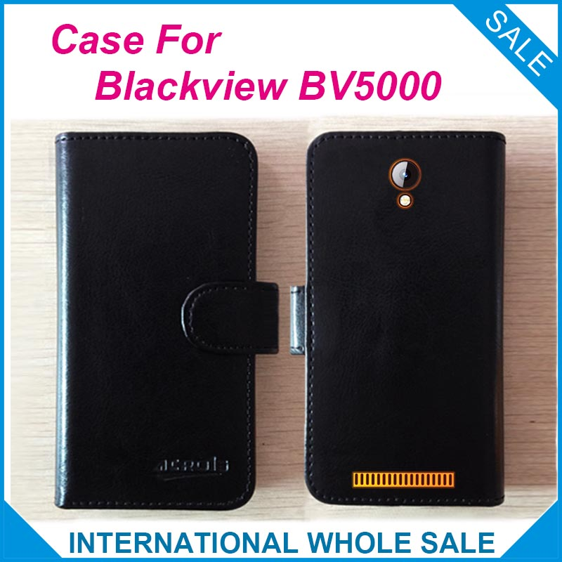 Hot! BV5000 Blackview Case 5.0Inch,New 2019 items Factory Price Flip Leather Exclusive Cover For Blackview BV5000 Case Tracking image