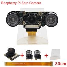 Cheapest prices New Raspberry Pi Zero Camera Fish Eye Wide Angle Night Vision Camera+2 pcs IR Sensor LED Light+30 cm FFC + Acrylic Holder RPI0