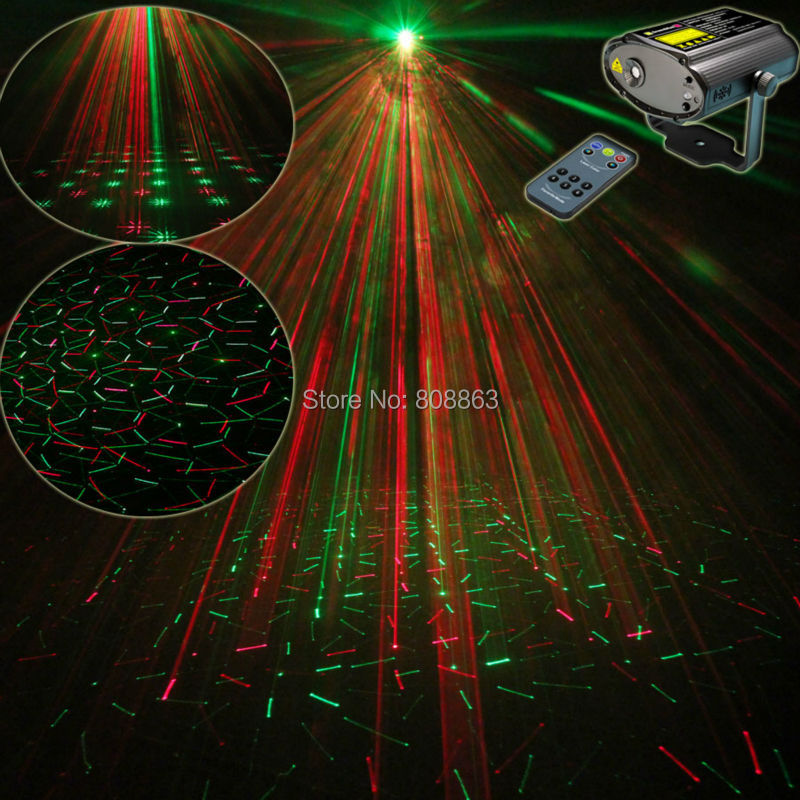 High Quality R&G Mini Laser Projector Remote Lines Fireworks Patterns Light DJ dance Disco Bar Home Party Xmas Stage Lights