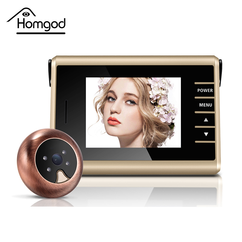 Free shipping 3.2 inch Colorful Video Recording Wireless Door Viewer Peephole 0.3 Mega Door Camera With Night Version wireless door viewer 4 3inch hd touch screen auto voice reminder smart door peephole camera infrared night version f1426d