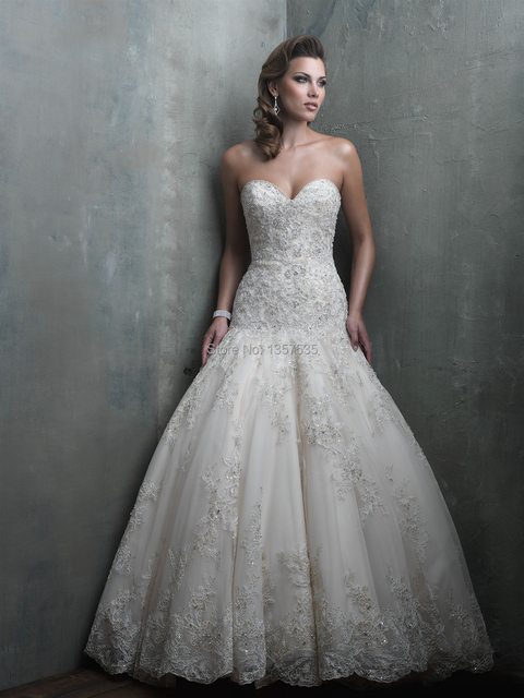 187 76 Form Fitting Wedding Dresses Mermaid Sweetheart Bridal Gowns Top Lace Bodice Beading 2015 Galia Lahav Fast Shipping Tulle Dw2096 Dans Robes