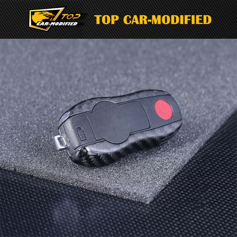 Free shipping 100 Genuine Carbon Fiber Remote Key Cover Holder Case Shell for Porsche Panamera Cayenne